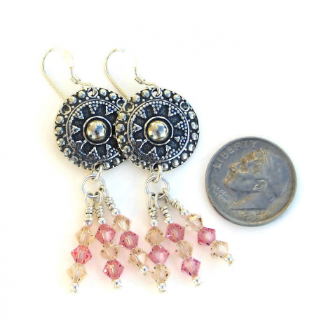One of a kind dangle earrings for women.