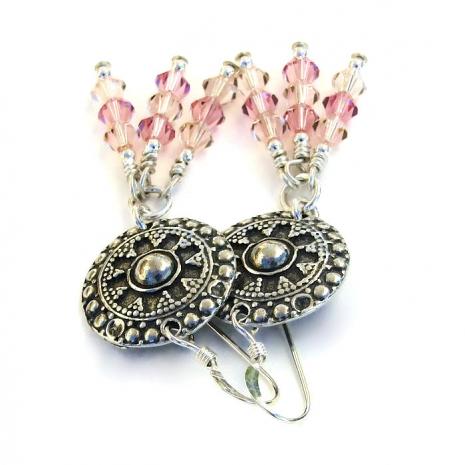 Bali shield earrings.
