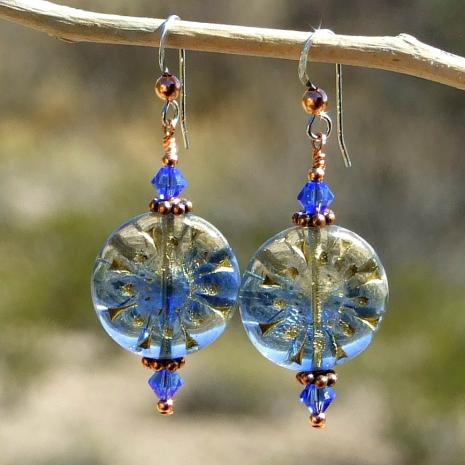 handmade flower earrings for women.