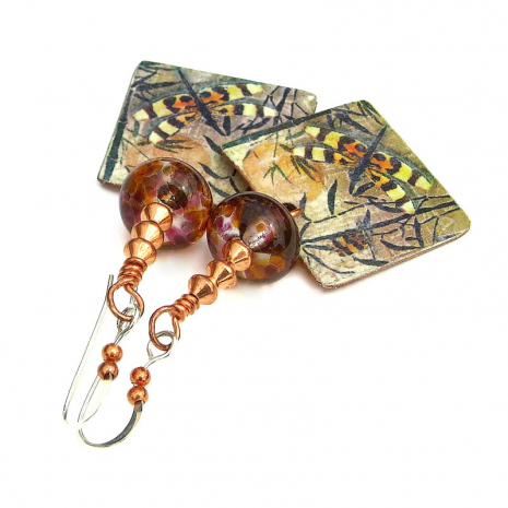 dragonfly and lampwork jewelry