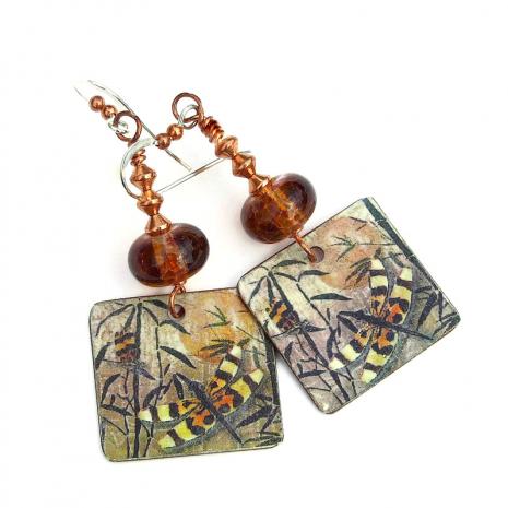 dragonfly earrings gift for her