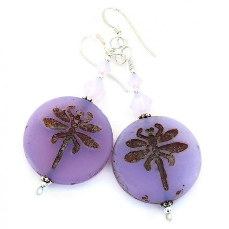 dragonfly earrings gift for women