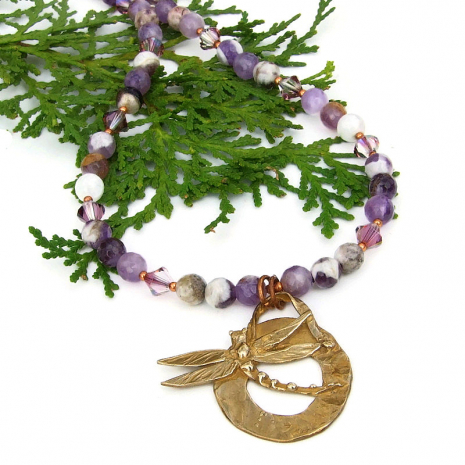 dragonfly follow your dream necklace
