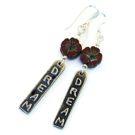 Handmade dream earrings