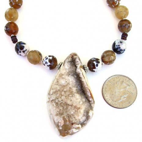 druzy pendant jewelry gift for women