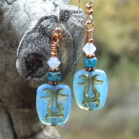 easter island face mask jewelry