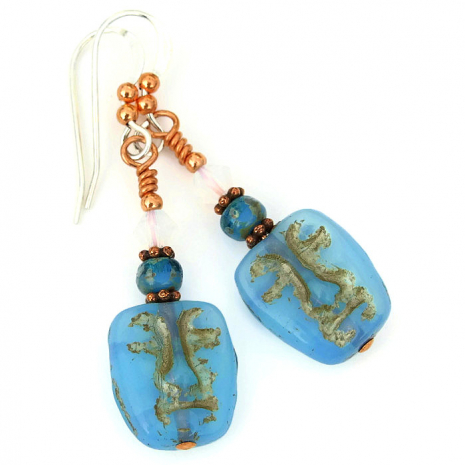 face earrings with Swarovski crystals