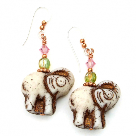 elephant jewelry gift for women