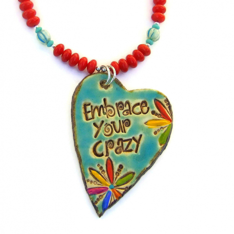 embrace your crazy pendant jewelry gift for women
