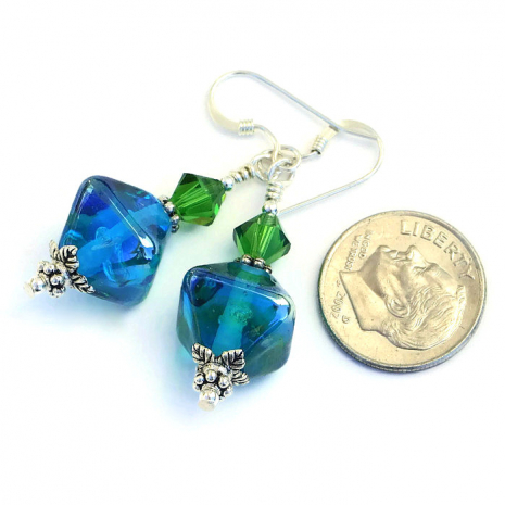 Lampwork earring jewelry for women.