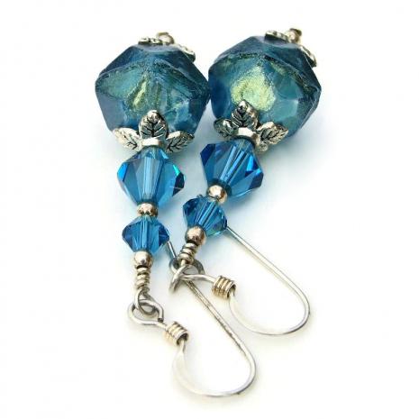 english cut czech glass and swarovski crystal jewelry