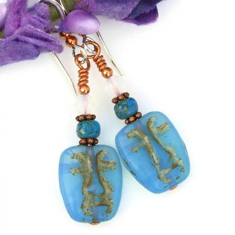 easter island face earrings for women