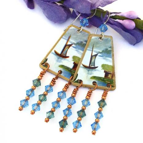 Boat earrings.