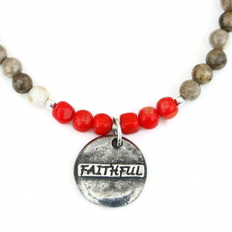 Faithful dog rescue necklace.