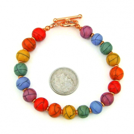 faux magnesite gemstone handmade acrylic bead jewelry