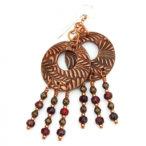 Fern jewelry gift idea for her.