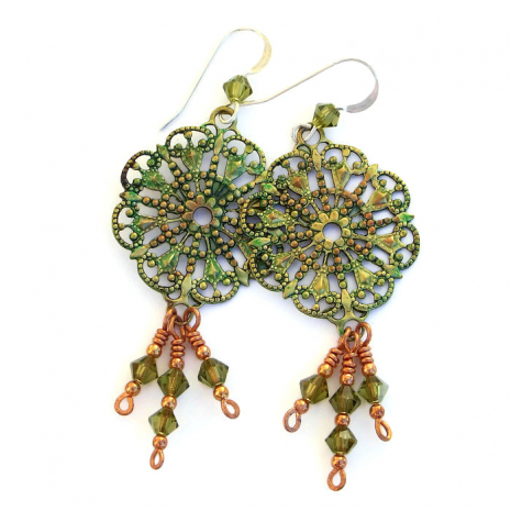 One of a kind handmade filigree earrings