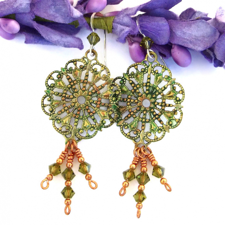 Victorian inspired filigree earrings.