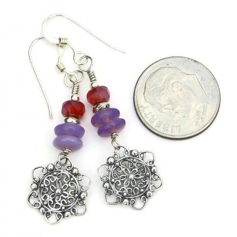 filigree mandala flower jewelry sterling silver