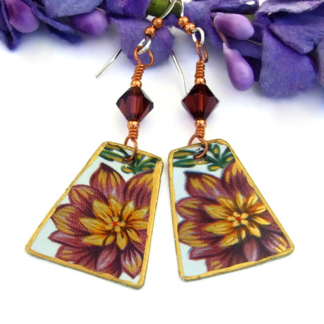 Flower jewelry gift idea for her.