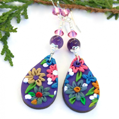 One of a kind flower jewelry.