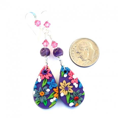 Handmade flower jewelry.