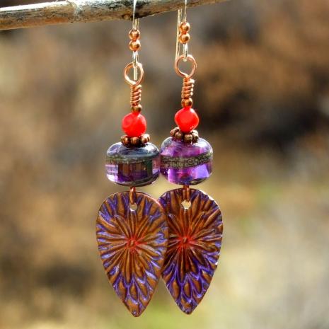 Boho flower jewelry for women.