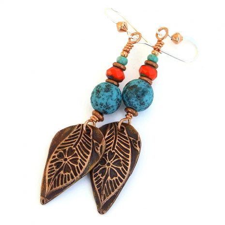 Leaf and flower jewelry.