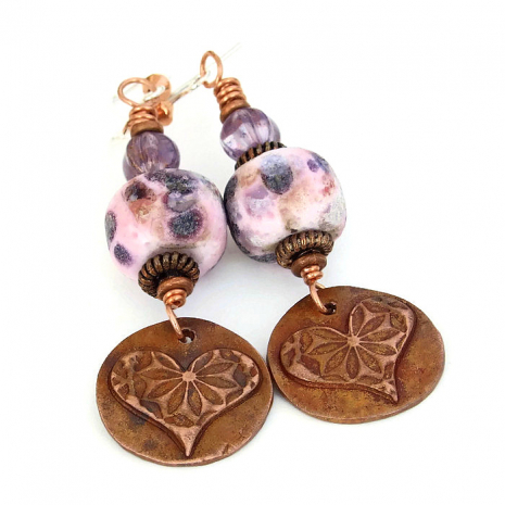 one of a kind heart earrings