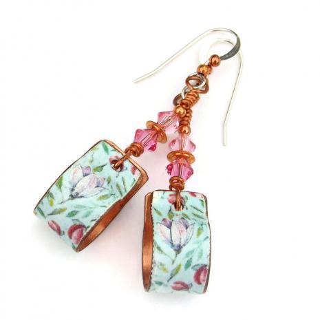 flower hoop jewelry gift for women
