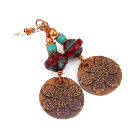 flower mandala jewelry gift for women