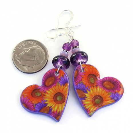 valentines day hearts and flowers jewelry gift for her