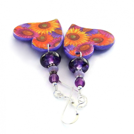 flowers and hearts jewelry for women