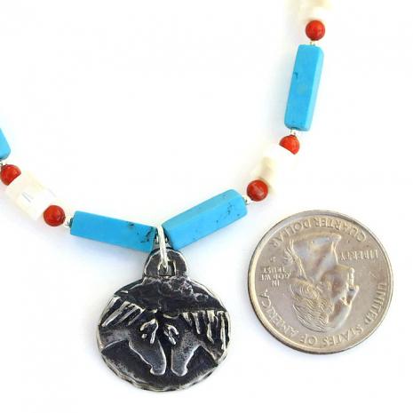 Artisan handmade horse pendant necklace - beautiful jewelry.