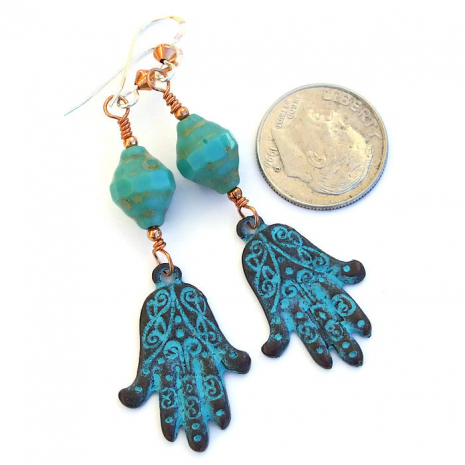 Hamsa charms are worn to protect against the evil eye in many countries.