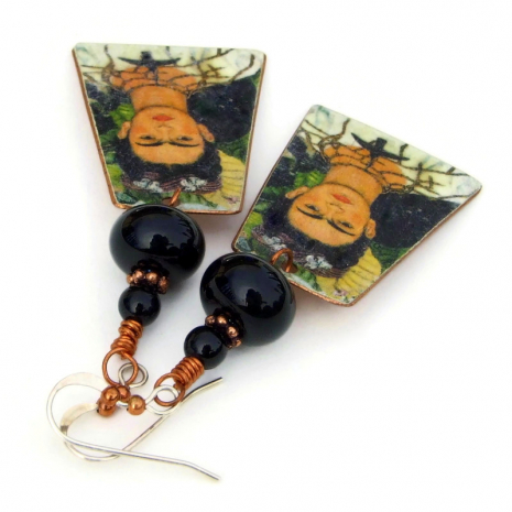 frida kahlo cat monkey jewelry gift for her