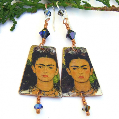frida kahlo earrings gift for women