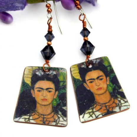 frida kahlo handmade earrings