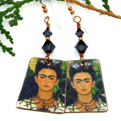 frida kahlo jewelry with Swarovski crystals