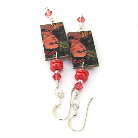 frida kahlo self portrait jewelry gift for her