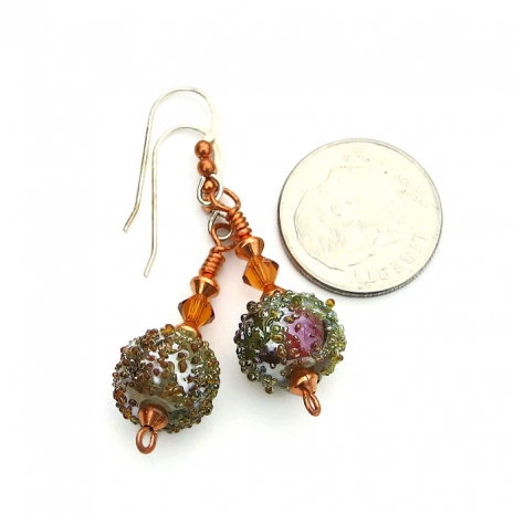 Unique handmade jewelry for the woman who loves unique lampwork earrings.