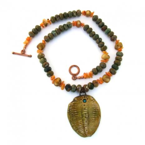 trilobite necklace for women.