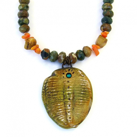 Trilobite jewelry for women.