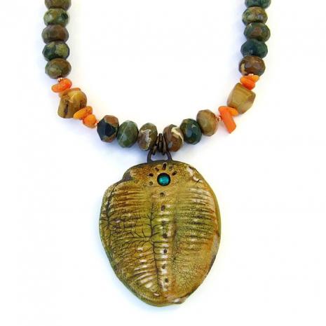 Trilobite jewelry for women.
