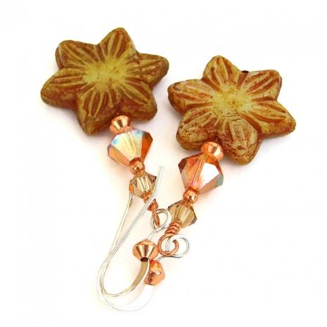 Unique handmade flower jewelry.