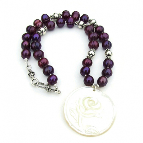 flower pendant necklace for women gift idea