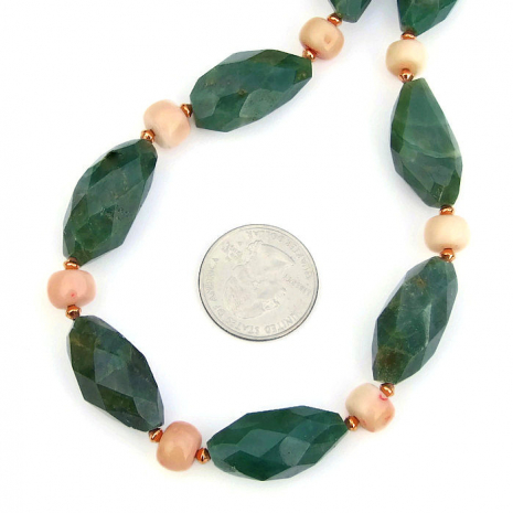 green and peach spring jewelry for her