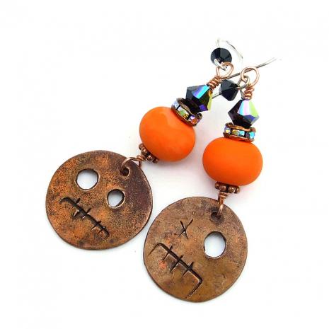 Halloween earrings for women.