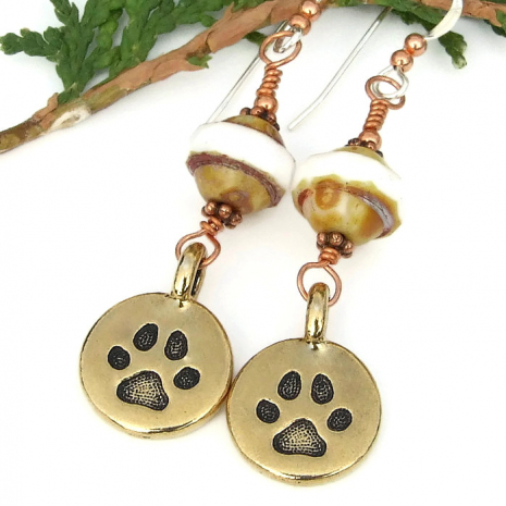 paw print earrings gift idea for her