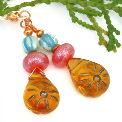 Summer earrings gift idea for her